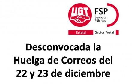 Desconvocada Huelga Correos 22_23_12_2014