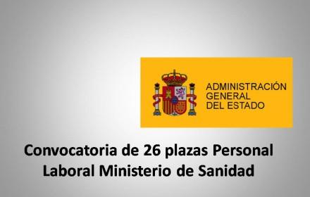 Convocatoria de 26 plazas Personal Laboral Ministerio de