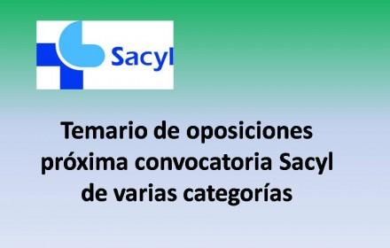 Temario de oposiciones próxima convocatoria Sacyl