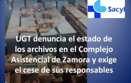 UGT denuncia el estado archivos