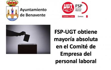 FSP-UGT obtiene mayoría absoluta