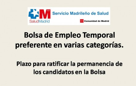 Bolsa de Empleo Temporal preferente en varias categorías
