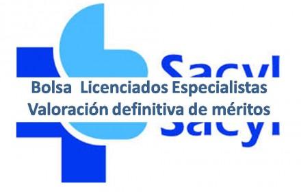 Bolsa  Licenciados Especialistas sacyl