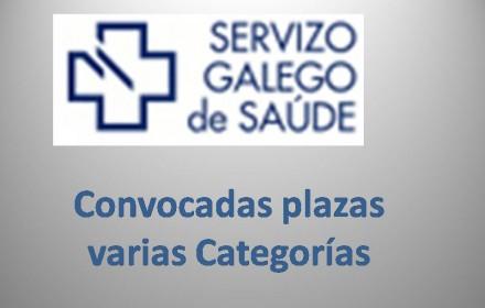 Convocadas plazas varias Categorías galicia 2015