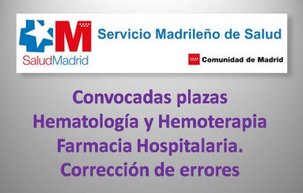 sanidad madrid hematologia farmacia y errores