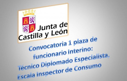 Convocatoria 1 plaza interino inspeccion de consumo