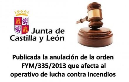 Publicada la anulación de la orden fym-335-2013