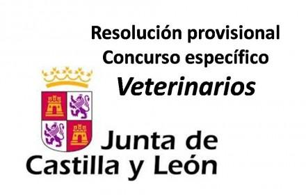 Resolución provisional Concurso específico Veterinarios 2015