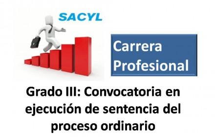 Carrera profesional grado III ejecucion sentencia 2015