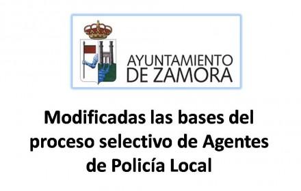 Modificadas las bases del proceso selectivo de Agentes