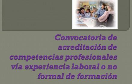 convocatoria de acreditación de competencias profesionales 2015