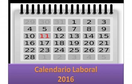 Calendario Laboral 2016 presentacion