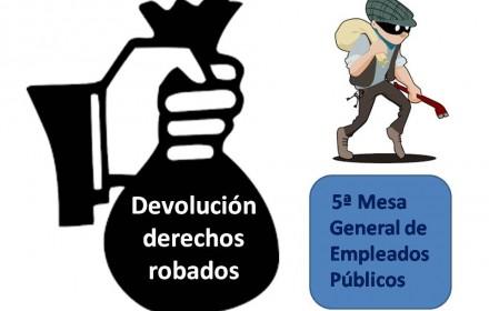 Devolución derechos robados quinta reunion