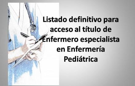 listado definitivo enfermero pediatrico