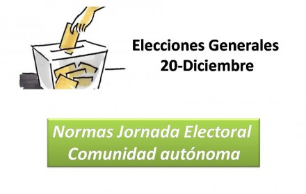 Elecciones Generales normas 20 dic