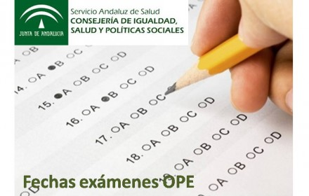 fecha examenes ope sas nov 2015