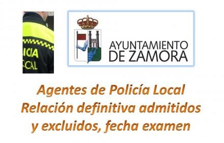 plazas Agentes policia definitiva admitidos y examen