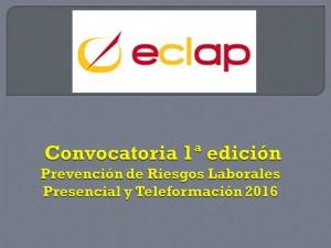eclap Formación Prevencion riesgos laborales primera edicion 2016