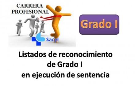 listado reconocimiento grado I ejecución sentencia