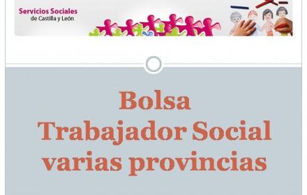 Bolsa trabajador social varias provincias 2106
