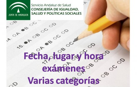 fecha examenes ope sas varias categorias feb 2016