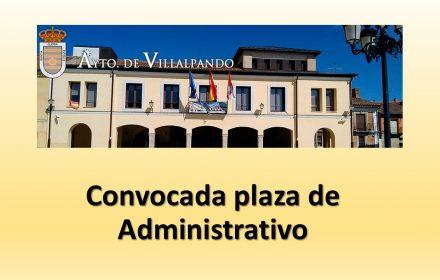 Convocada plaza de Administrativo may-2016