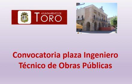 Convocatoria Ingeniero Tec Obras publicas may-2016