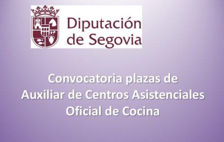 Convocatoria plazas de Auxiliar de Centros Asistenciales y Oficial de Cocina may-2016