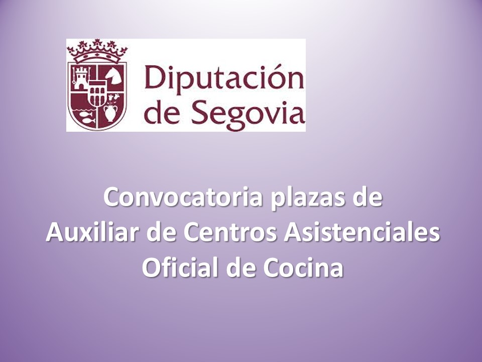 Fesp ugt zamora diputaci n de segovia convocatoria for Sep convocatoria plazas 2016