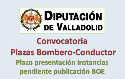 Convocatoria bombero-conductor diputac Valladolid jun-2016