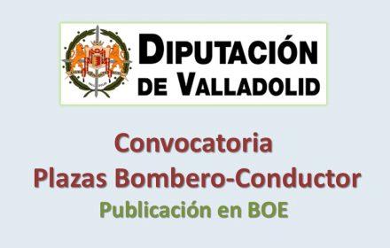 Convocatoria bombero-conductor diputac Valladolid jun-2016 boe