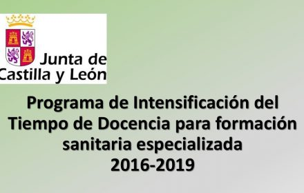 Programa Intensificación Tiempo de Docencia formación sanitaria espec 2016-2019