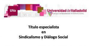 titulo sindicalismo y dialogo social