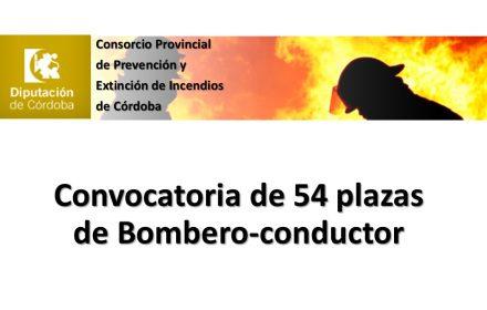 diputacion cordoba 54 plazas bombero-conductor ago-2016