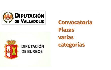 diputacion valladolid y burgos convocatoria plazas sep-2016