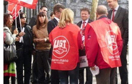 Federación exterior FeSP-UGT apoya movilizaciones 23M