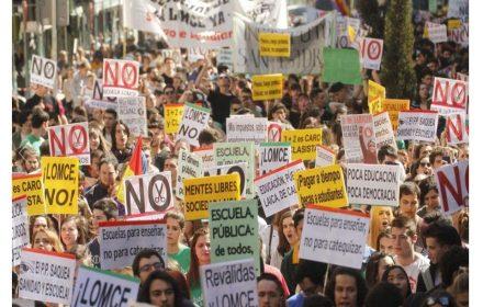sindicato educación alemana valora protestas 9-3-2017