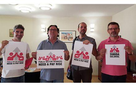 9 años austeridad trabajadores sector publico Europa piden aumento