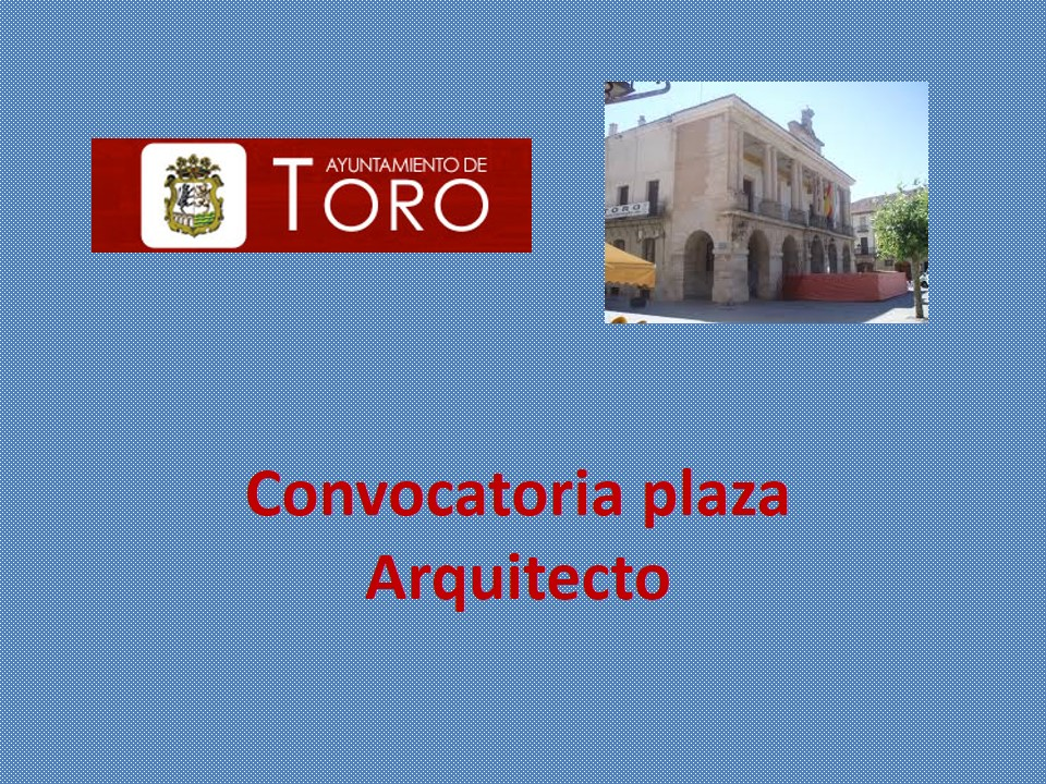 Fesp ugt zamora ayuntamiento de toro convocatoria plaza - Trabajo arquitecto barcelona ...
