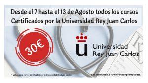 Oferta cursos 30 euros 7 al 13 ago certificados Univ Rey Juan Carlos