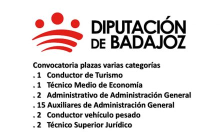 diput badajoz plazas varias categorias ago-2017