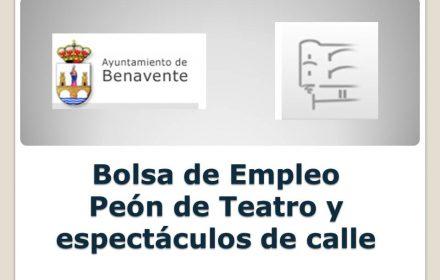 benavente Bolsa de Empleo peon teatro sep-2017