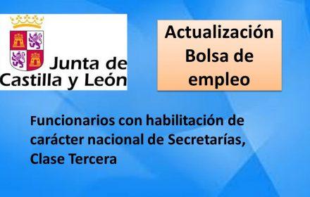 bolsa jcyl actualizacion secretarias clase tercera sep-2017