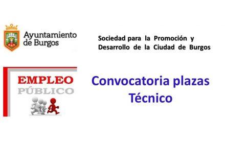 convocatoria plaza tecnico sep-2017