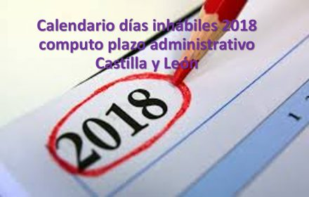 calendario inhabiles plazo administrativo