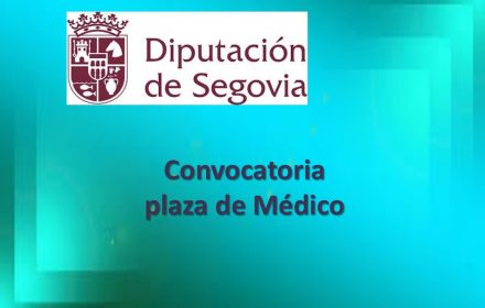 convocatoria plaza medico diput segovia oct-2017