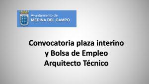 medina del campo bolsa y plaza arquitecto tecnico oct-2017