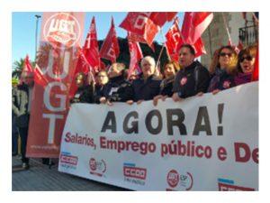 UGT CCOO se manifiestan Coruña Valencia
