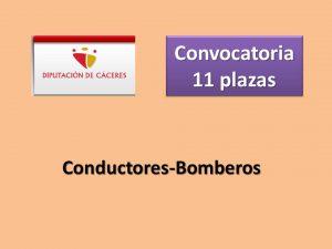 convocatoria plazas bombero dip caceres ene-2018