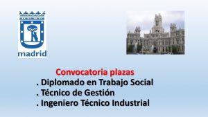 Convocatoria plazas Madrid feb-2018